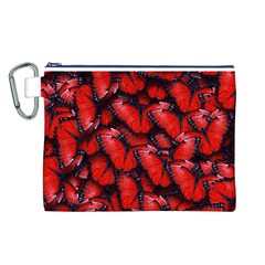 The Red Butterflies Sticking Together In The Nature Canvas Cosmetic Bag (l)