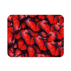 The Red Butterflies Sticking Together In The Nature Double Sided Flano Blanket (mini)