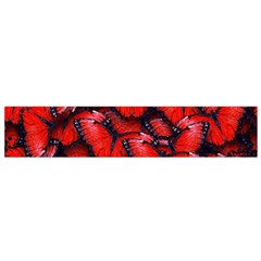 The Red Butterflies Sticking Together In The Nature Flano Scarf (small)