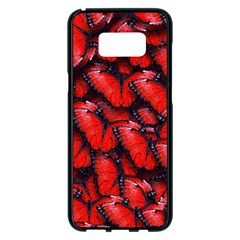 The Red Butterflies Sticking Together In The Nature Samsung Galaxy S8 Plus Black Seamless Case
