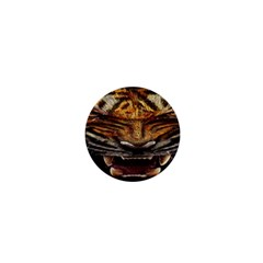 Tiger Face 1  Mini Buttons