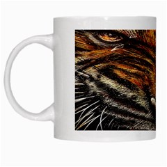 Tiger Face White Mugs