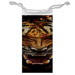 Tiger Face Jewelry Bag