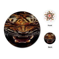 Tiger Face Playing Cards (round)