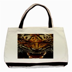 Tiger Face Basic Tote Bag (two Sides)