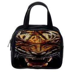 Tiger Face Classic Handbags (one Side)
