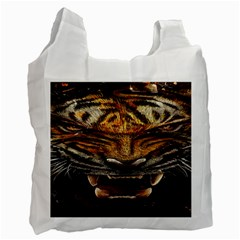 Tiger Face Recycle Bag (two Side)