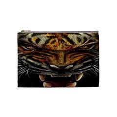 Tiger Face Cosmetic Bag (medium)