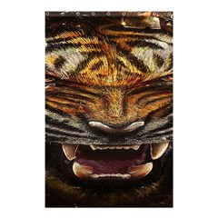 Tiger Face Shower Curtain 48  X 72  (small)