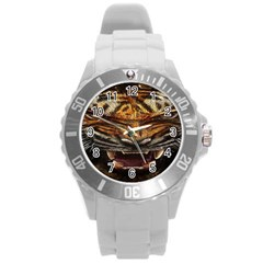Tiger Face Round Plastic Sport Watch (l)