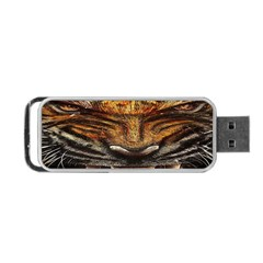 Tiger Face Portable Usb Flash (two Sides)