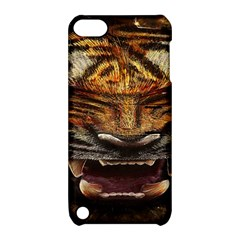 Tiger Face Apple Ipod Touch 5 Hardshell Case With Stand