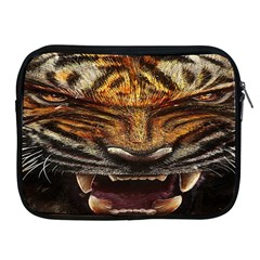 Tiger Face Apple Ipad 2/3/4 Zipper Cases