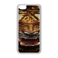 Tiger Face Apple Iphone 5c Seamless Case (white)