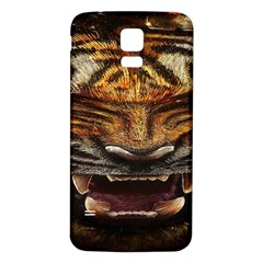 Tiger Face Samsung Galaxy S5 Back Case (white)
