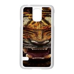 Tiger Face Samsung Galaxy S5 Case (white)