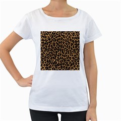 Tiger Skin Art Pattern Women s Loose Fit T Shirt (white)