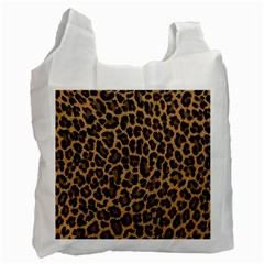 Tiger Skin Art Pattern Recycle Bag (two Side)