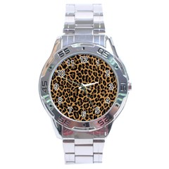Tiger Skin Art Pattern Stainless Steel Analogue Watch