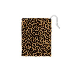 Tiger Skin Art Pattern Drawstring Pouches (xs)