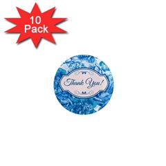 Thank You 1  Mini Magnet (10 Pack)