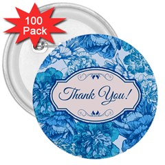 Thank You 3  Buttons (100 Pack)