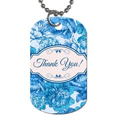 Thank You Dog Tag (two Sides)