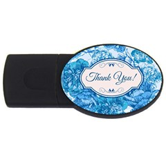 Thank You Usb Flash Drive Oval (4 Gb)