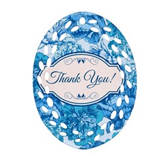 Thank You Oval Filigree Ornament (two Sides)