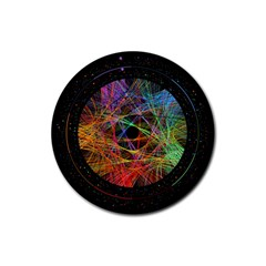 The Art Links Pi Rubber Coaster (round)