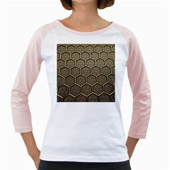 Texture Hexagon Pattern Girly Raglans