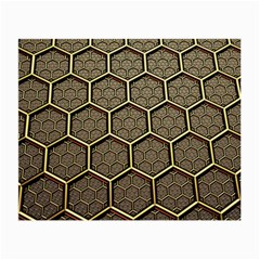 Texture Hexagon Pattern Small Glasses Cloth
