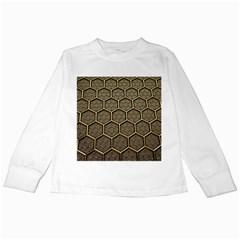 Texture Hexagon Pattern Kids Long Sleeve T Shirts