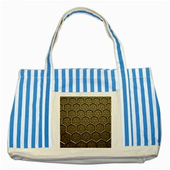 Texture Hexagon Pattern Striped Blue Tote Bag