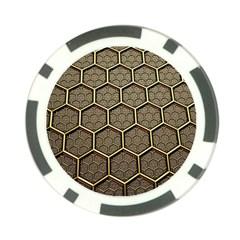 Texture Hexagon Pattern Poker Chip Card Guard