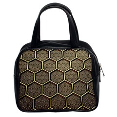 Texture Hexagon Pattern Classic Handbags (2 Sides)