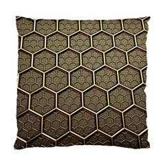 Texture Hexagon Pattern Standard Cushion Case (one Side)
