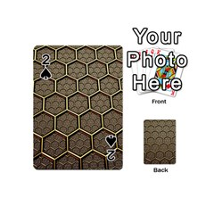 Texture Hexagon Pattern Playing Cards 54 (mini)