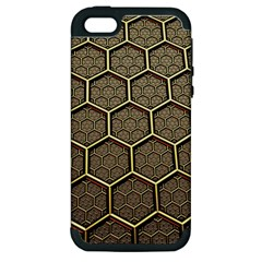 Texture Hexagon Pattern Apple Iphone 5 Hardshell Case (pc+silicone)