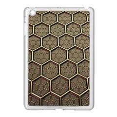 Texture Hexagon Pattern Apple Ipad Mini Case (white)