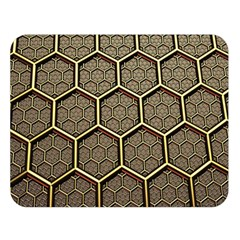 Texture Hexagon Pattern Double Sided Flano Blanket (large)