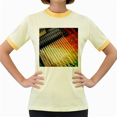 Technology Circuit Women s Fitted Ringer T Shirts