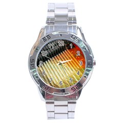 Technology Circuit Stainless Steel Analogue Watch