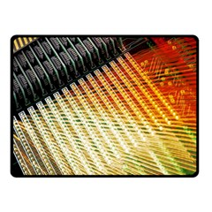 Technology Circuit Double Sided Fleece Blanket (small)