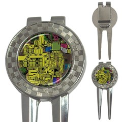 Technology Circuit Board 3 In 1 Golf Divots