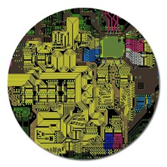 Technology Circuit Board Magnet 5  (round)