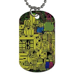 Technology Circuit Board Dog Tag (one Side)