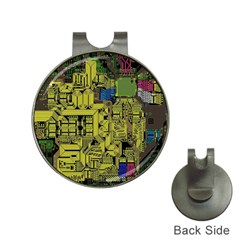 Technology Circuit Board Hat Clips With Golf Markers