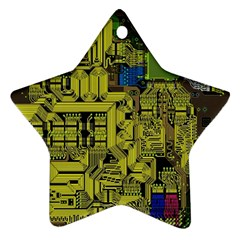 Technology Circuit Board Star Ornament (two Sides)