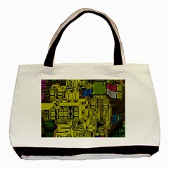 Technology Circuit Board Basic Tote Bag (two Sides)